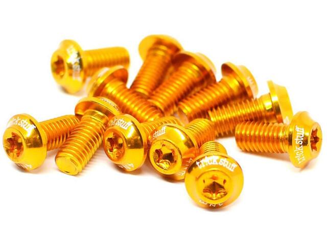 Trickstuff ultralette bremseskiveskruer aluminium M5x10 T20 12 styk guld